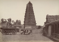 Mysore. Temple of Chamondee, with idol car